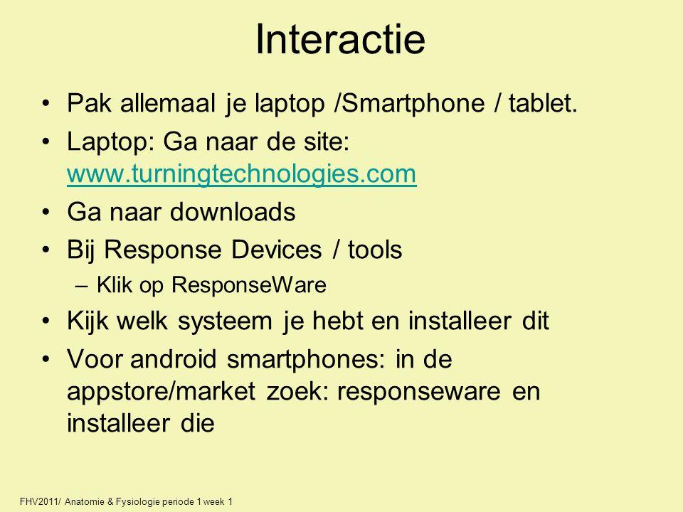 Interactie Pak allemaal je laptop /Smartphone / tablet.