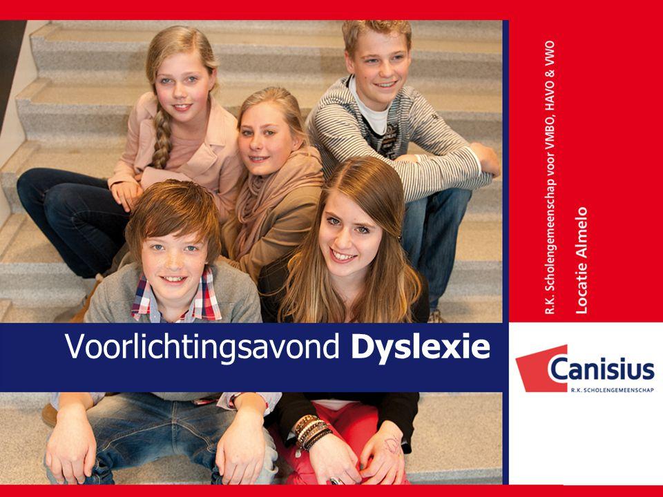 Voorlichtingsavond Dyslexie