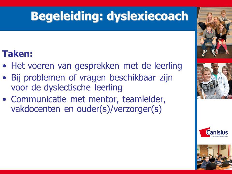 Begeleiding: dyslexiecoach