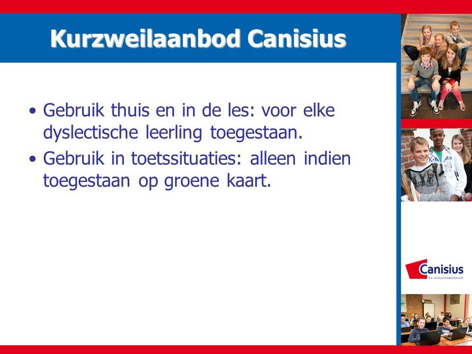 Kurzweilaanbod Canisius