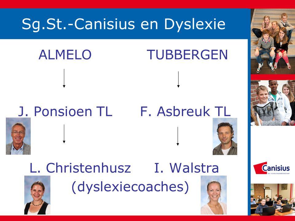 Sg.St.-Canisius en Dyslexie