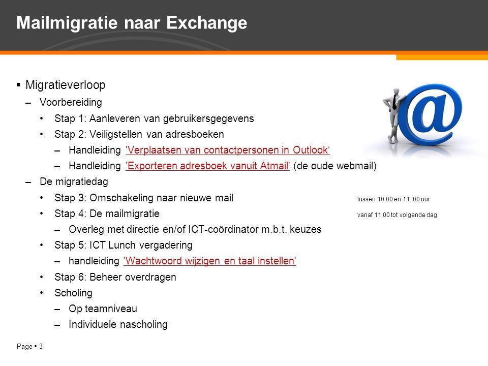 Mailmigratie naar Exchange