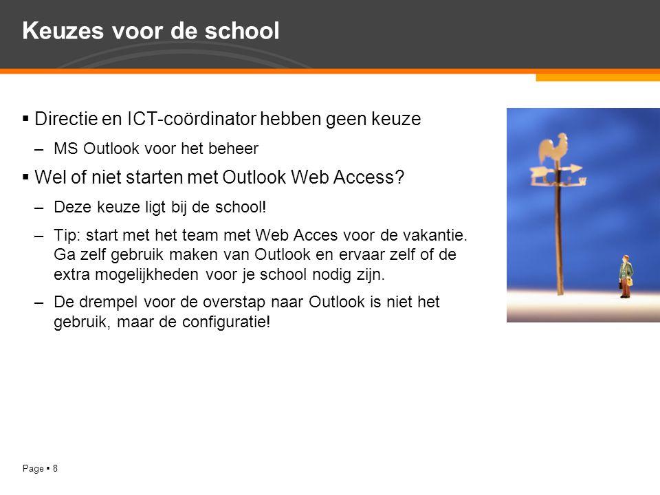 Keuzes voor de school Directie en ICT-coördinator hebben geen keuze