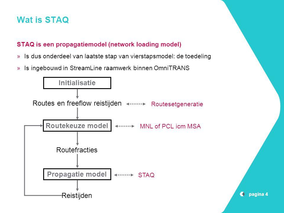 Wat is STAQ Initialisatie Routes en freeflow reistijden