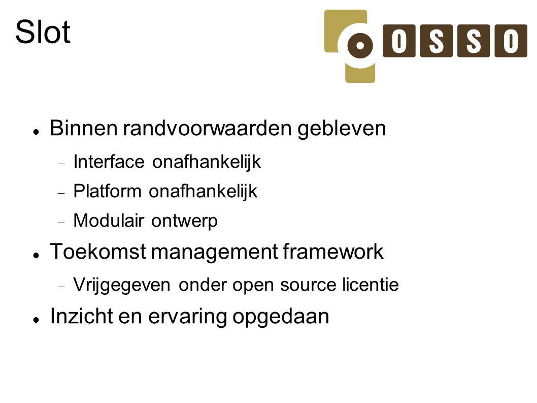 Slot Binnen randvoorwaarden gebleven Toekomst management framework