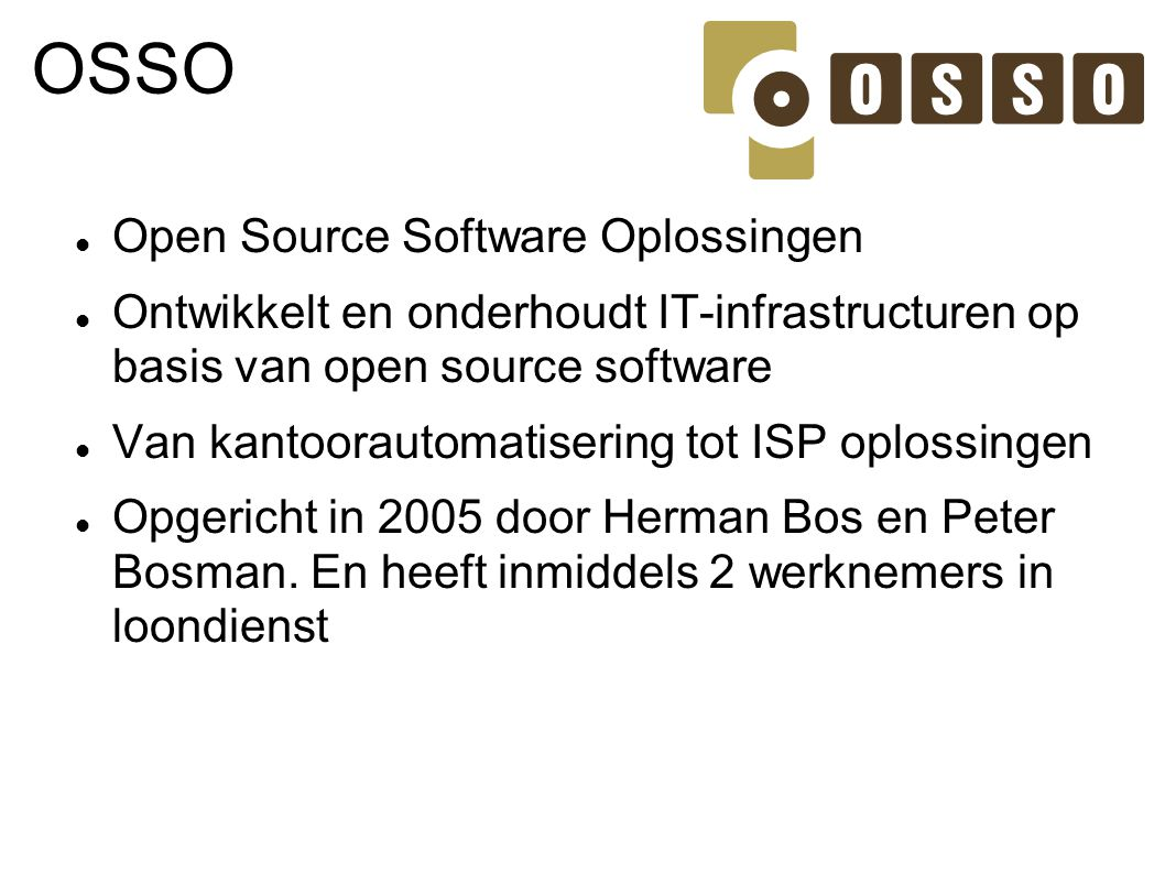 OSSO Open Source Software Oplossingen