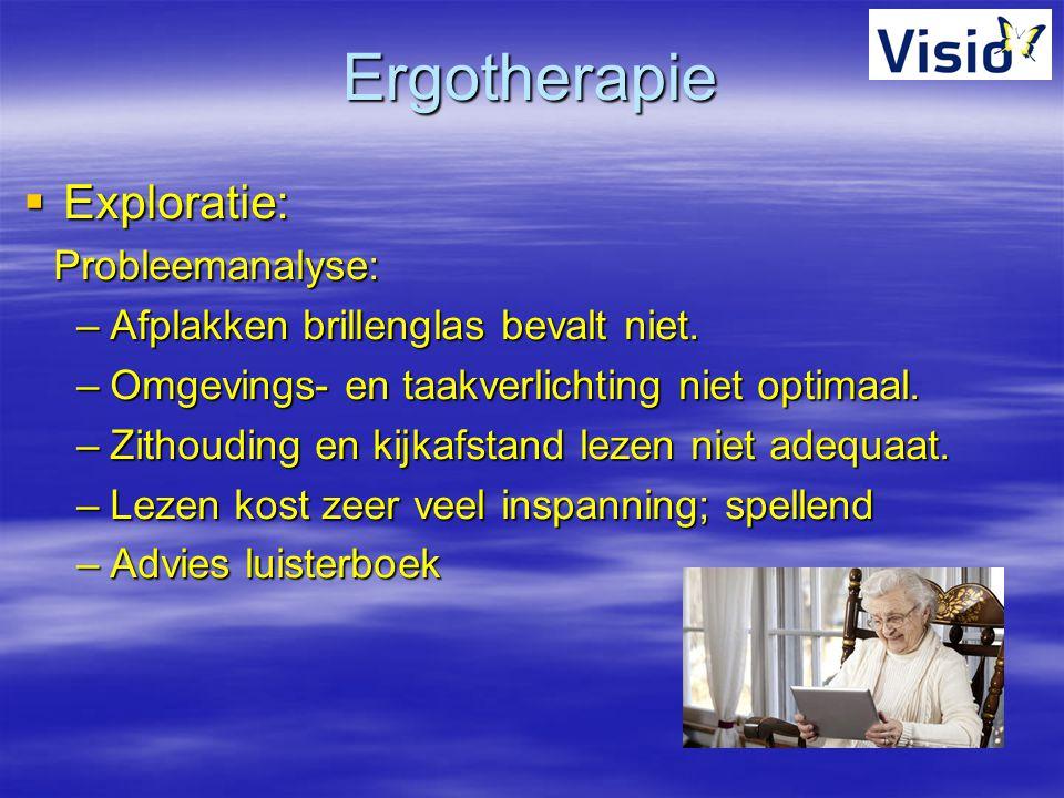 Ergotherapie Exploratie: Probleemanalyse: