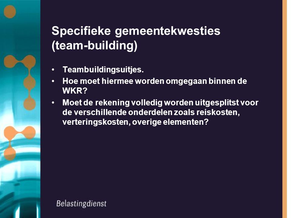 Specifieke gemeentekwesties (team-building)