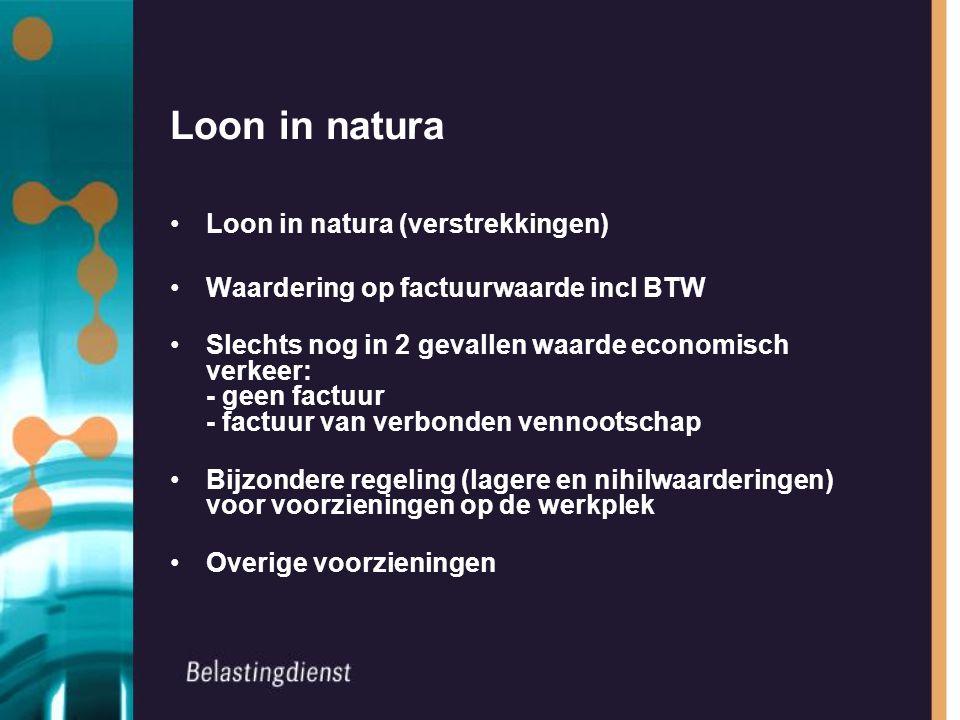 Loon in natura Loon in natura (verstrekkingen)