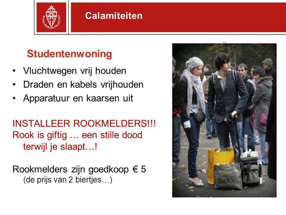 Studentenwoning Calamiteiten Vluchtwegen vrij houden