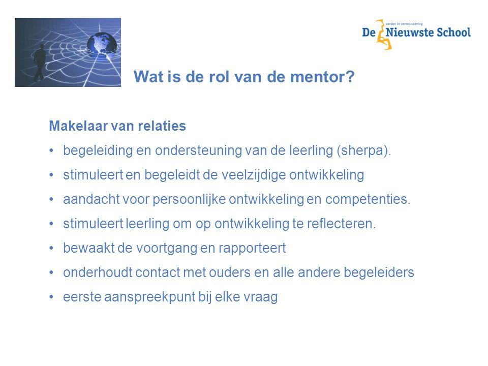 Wat is de rol van de mentor
