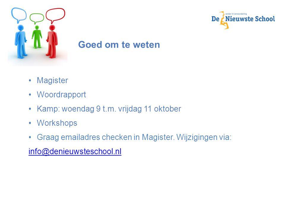 Goed om te weten Magister Woordrapport