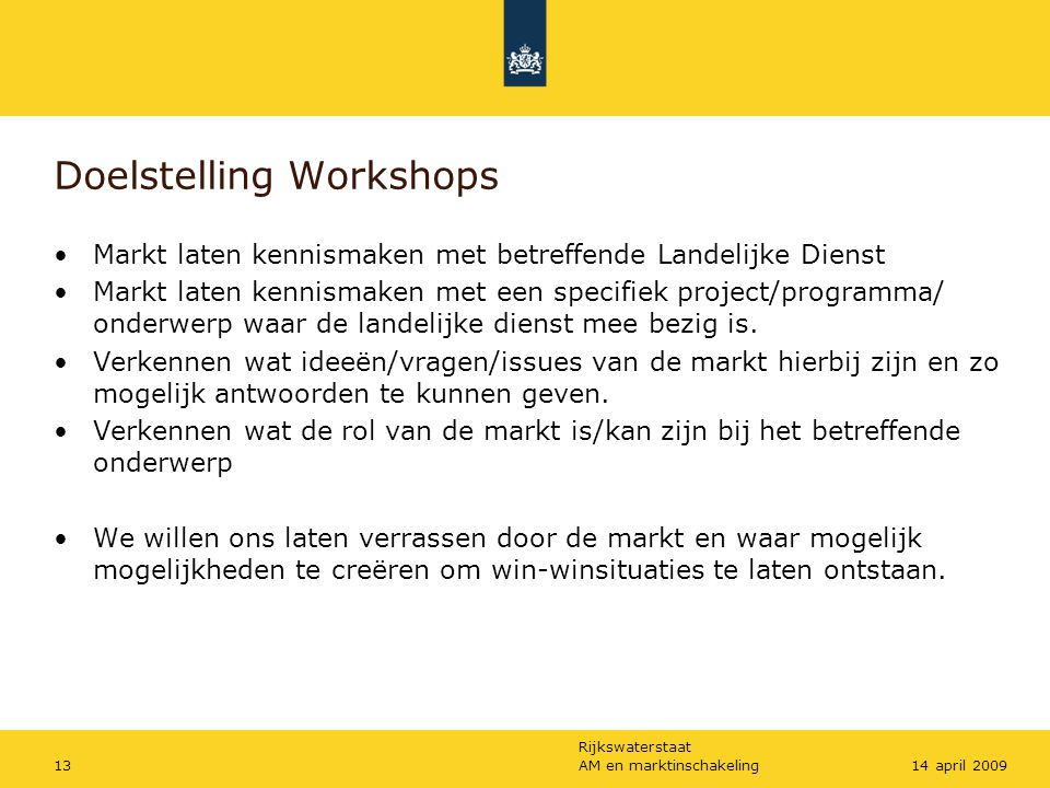 Doelstelling Workshops