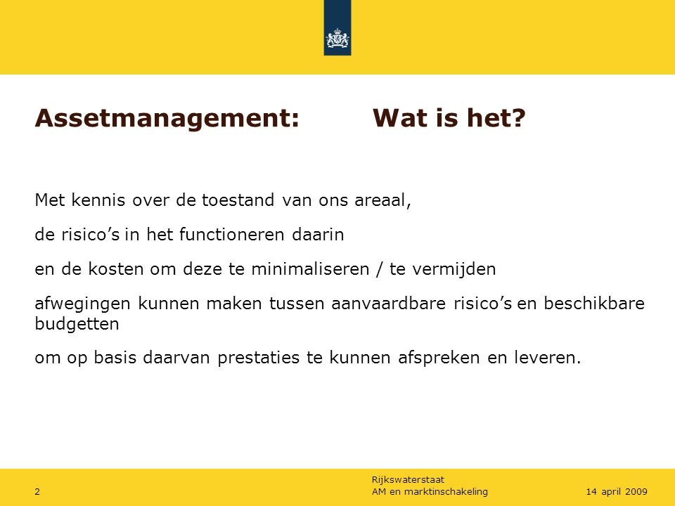 Assetmanagement: Wat is het
