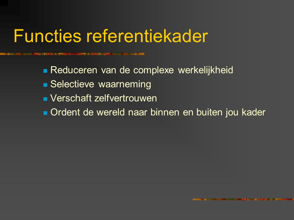 Functies referentiekader