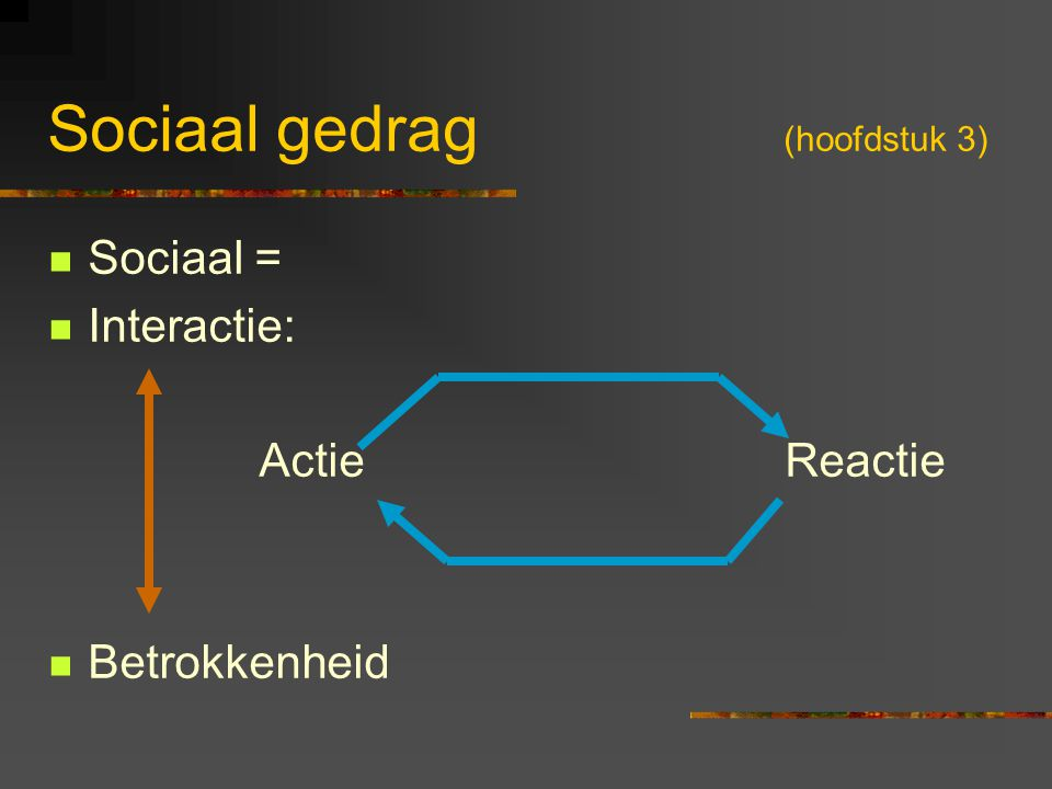 Sociaal gedrag (hoofdstuk 3)