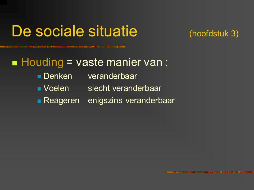 De sociale situatie (hoofdstuk 3)
