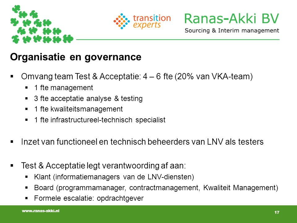 Organisatie en governance