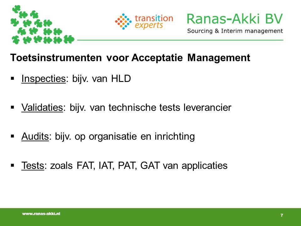 Toetsinstrumenten voor Acceptatie Management