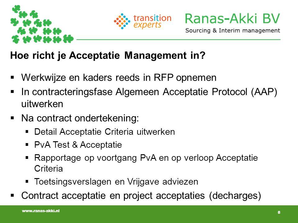 Hoe richt je Acceptatie Management in