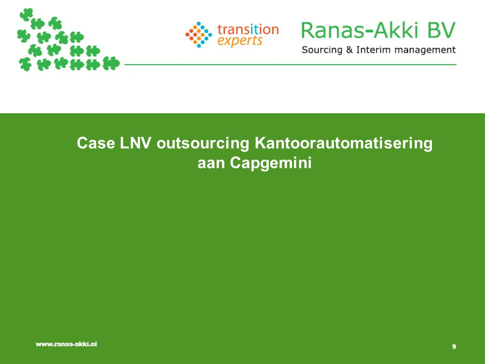 Case LNV outsourcing Kantoorautomatisering aan Capgemini