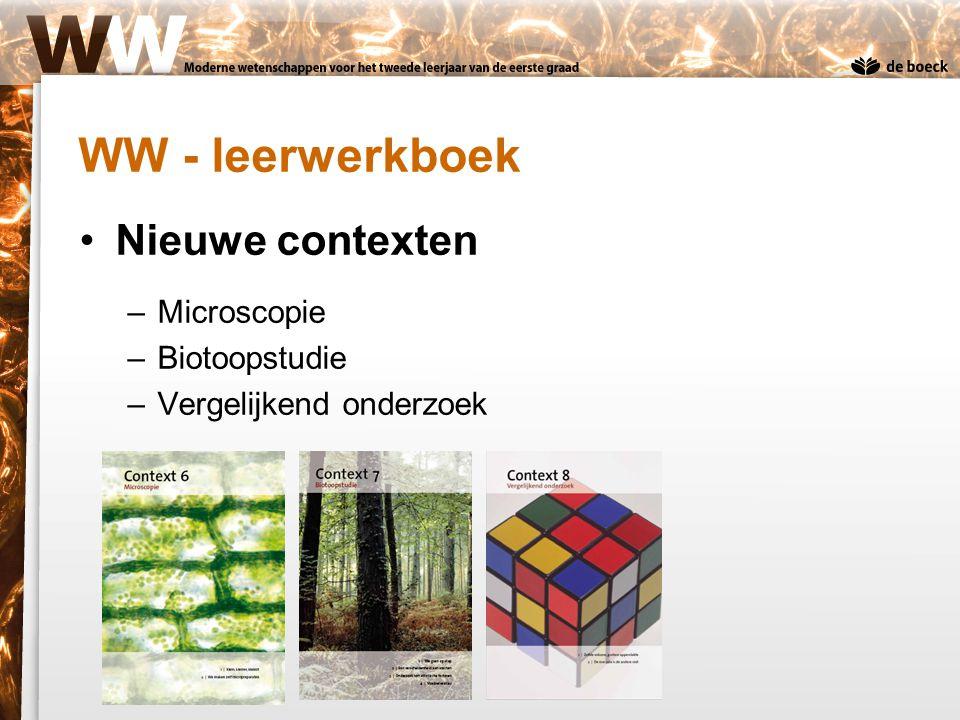WW - leerwerkboek Nieuwe contexten Microscopie Biotoopstudie