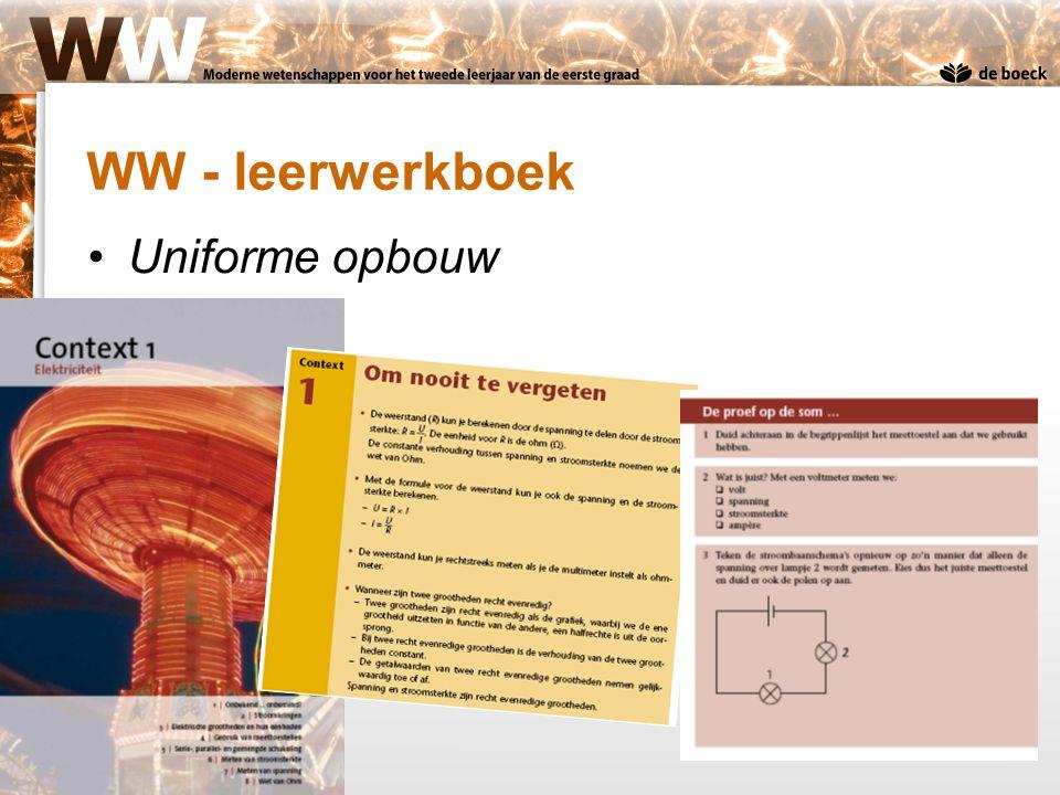 WW - leerwerkboek Uniforme opbouw