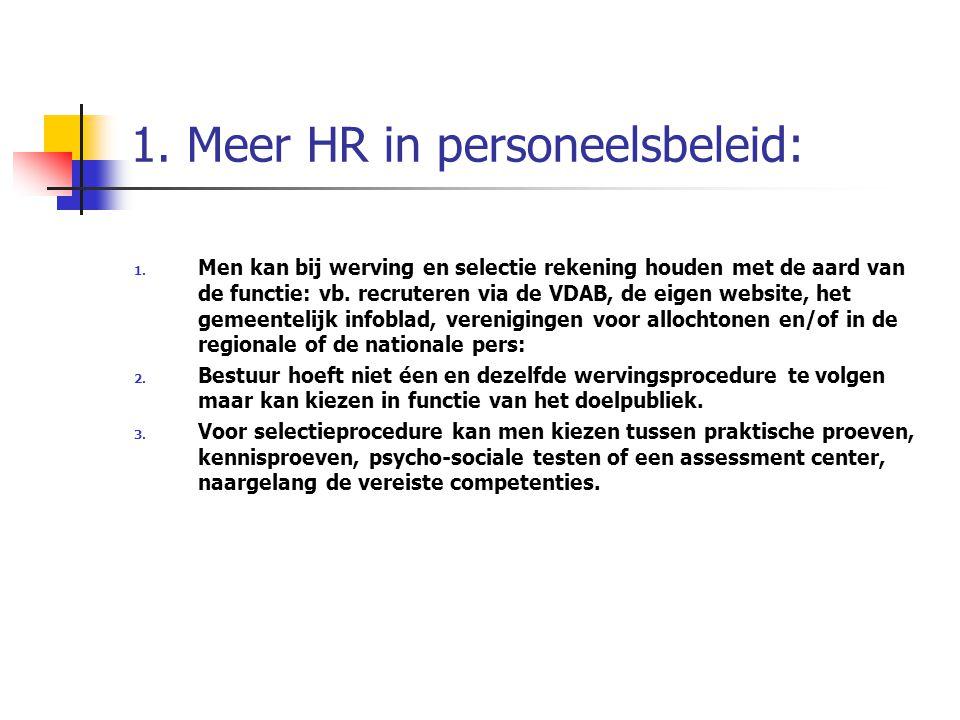 1. Meer HR in personeelsbeleid: