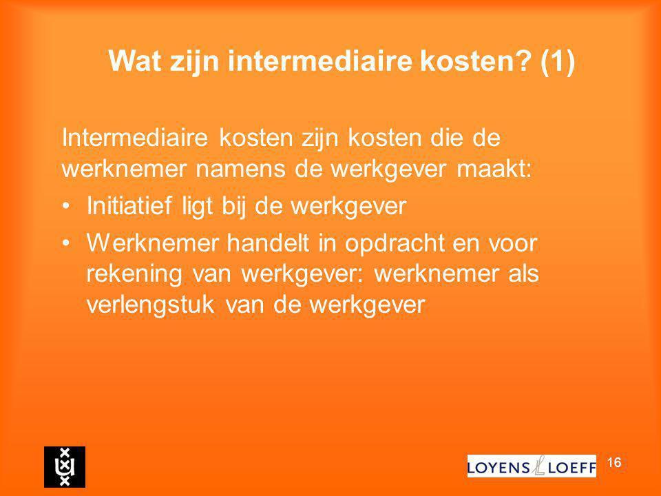 Wat zijn intermediaire kosten (1)