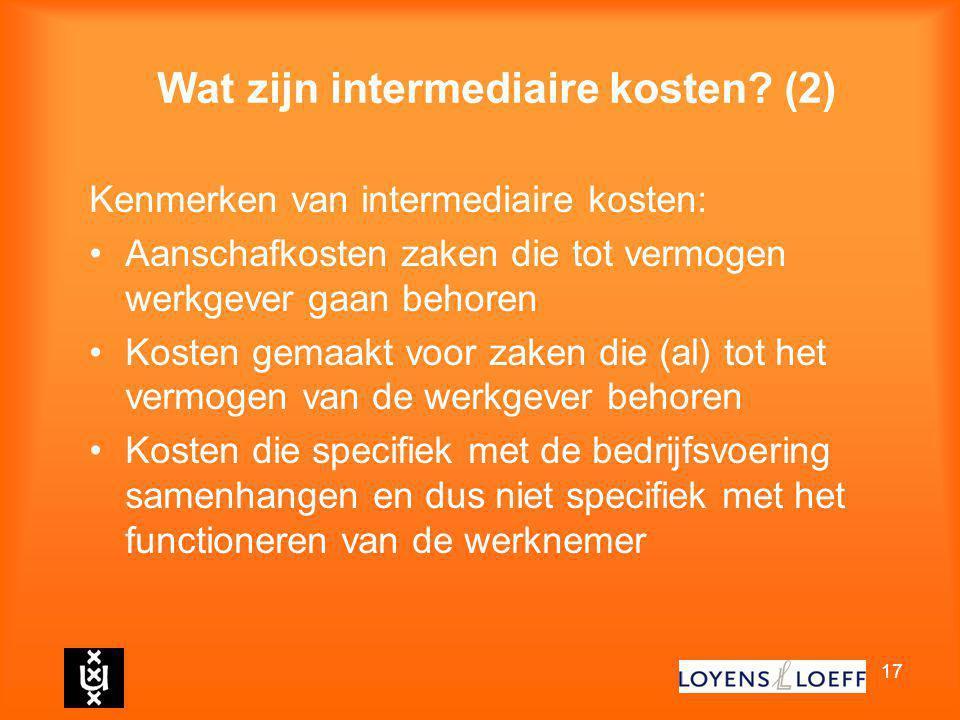 Wat zijn intermediaire kosten (2)