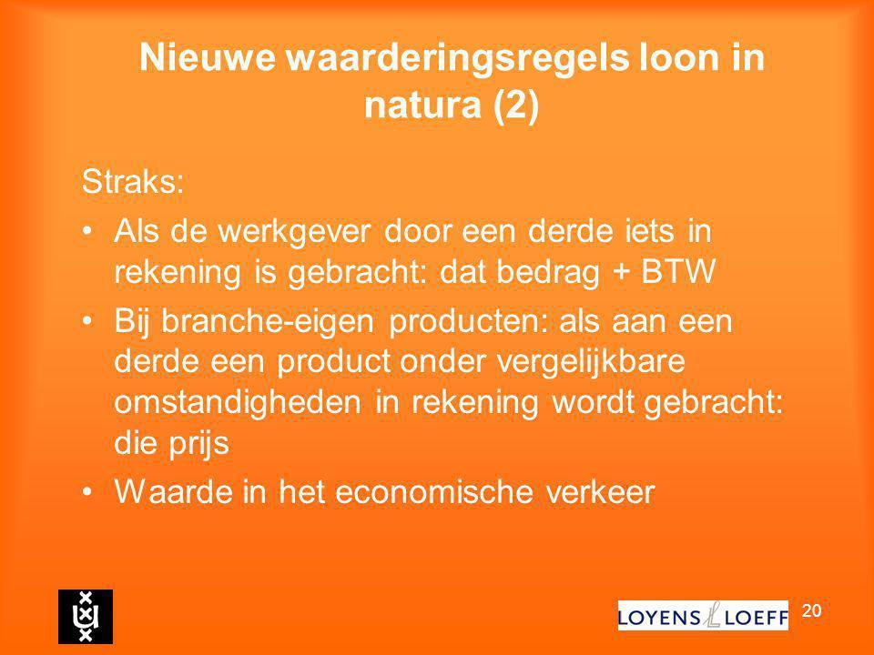 Nieuwe waarderingsregels loon in natura (2)
