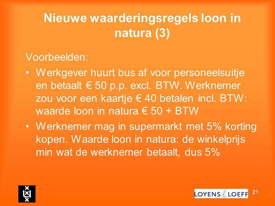 Nieuwe waarderingsregels loon in natura (3)