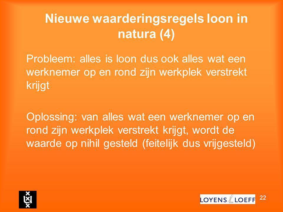 Nieuwe waarderingsregels loon in natura (4)