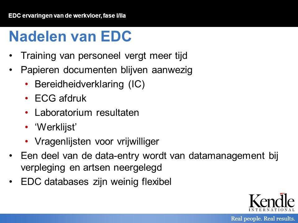 Nadelen van EDC Training van personeel vergt meer tijd