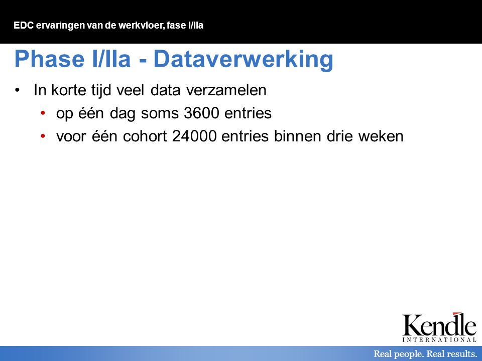 Phase I/IIa - Dataverwerking