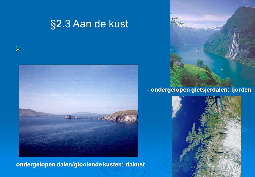 §2.3 Aan de kust - ondergelopen gletsjerdalen: fjorden