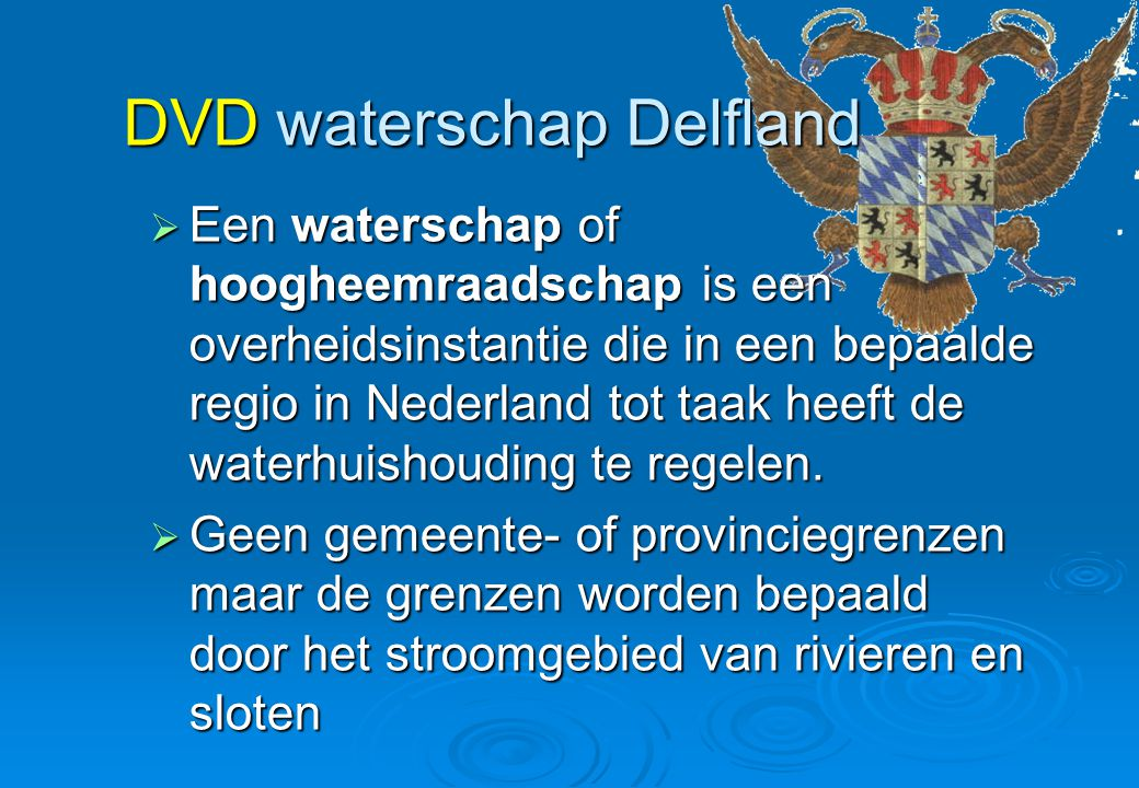 DVD waterschap Delfland