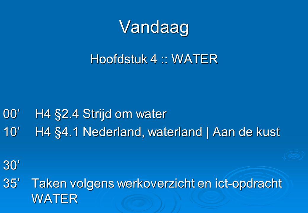 Vandaag Hoofdstuk 4 :: WATER 00' H4 §2.4 Strijd om water