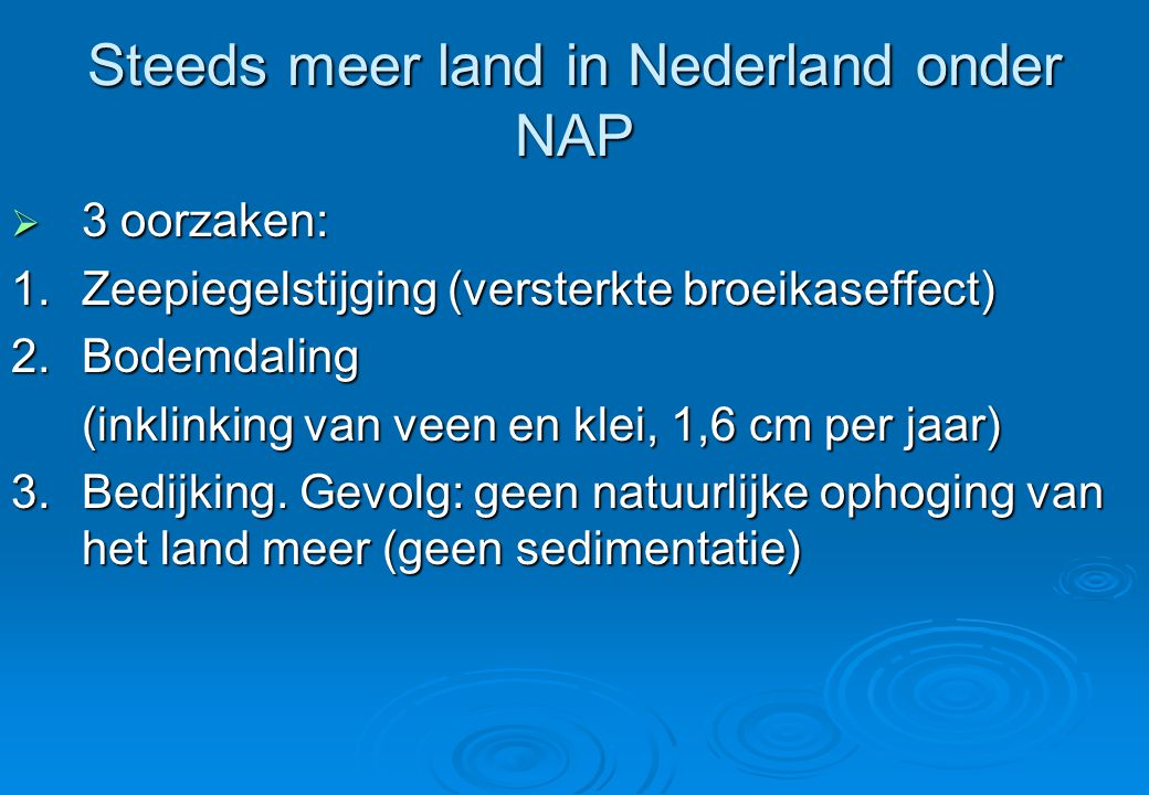 Steeds meer land in Nederland onder NAP