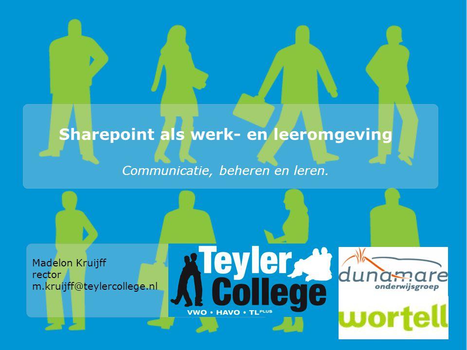 Sharepoint als werk- en leeromgeving