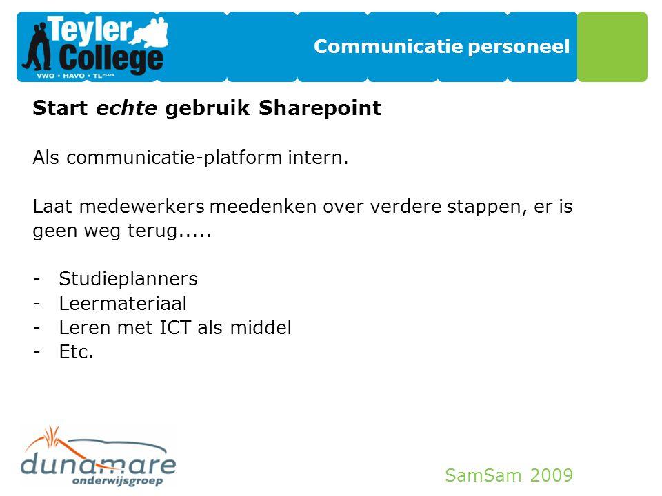 Communicatie personeel