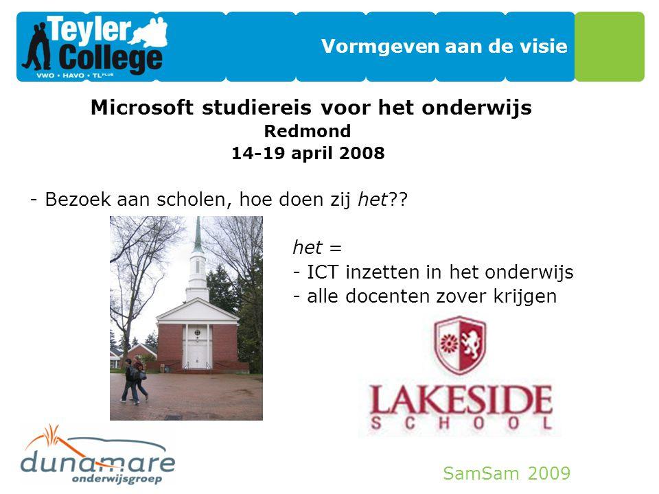 Microsoft studiereis voor het onderwijs