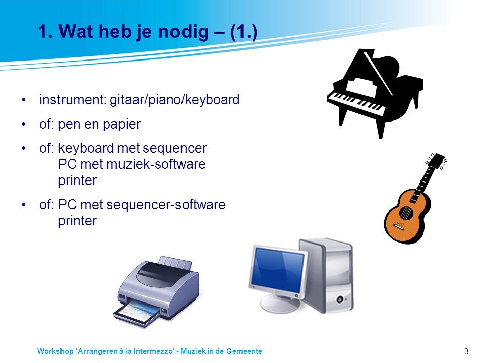 1. Wat heb je nodig – (1.) instrument: gitaar/piano/keyboard