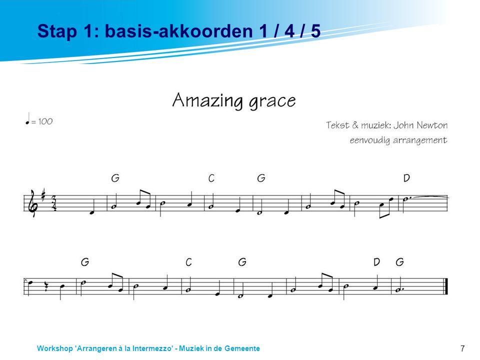Stap 1: basis-akkoorden 1 / 4 / 5