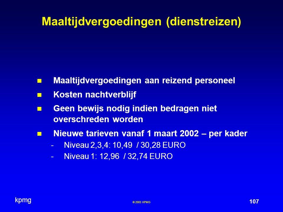 Maaltijdvergoedingen (dienstreizen)
