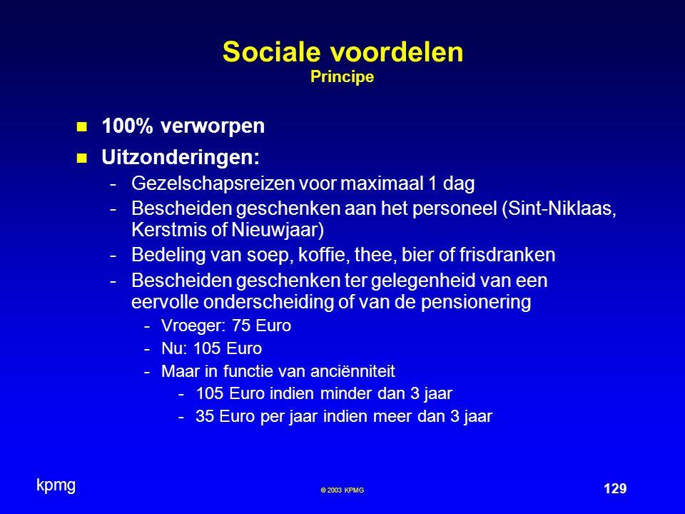 Sociale voordelen Principe