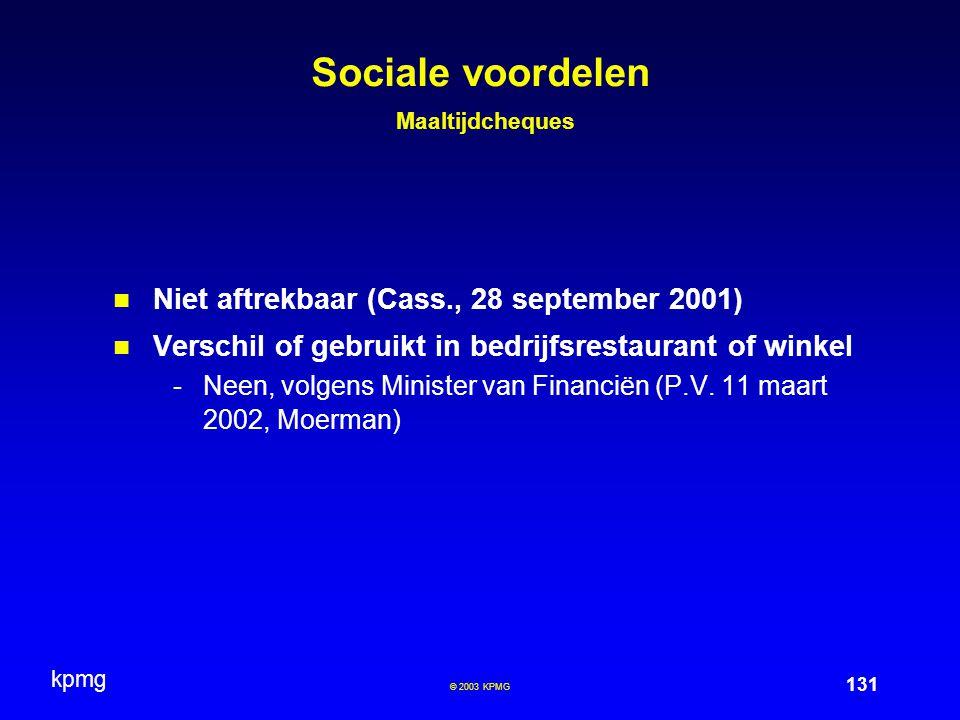 Sociale voordelen Maaltijdcheques