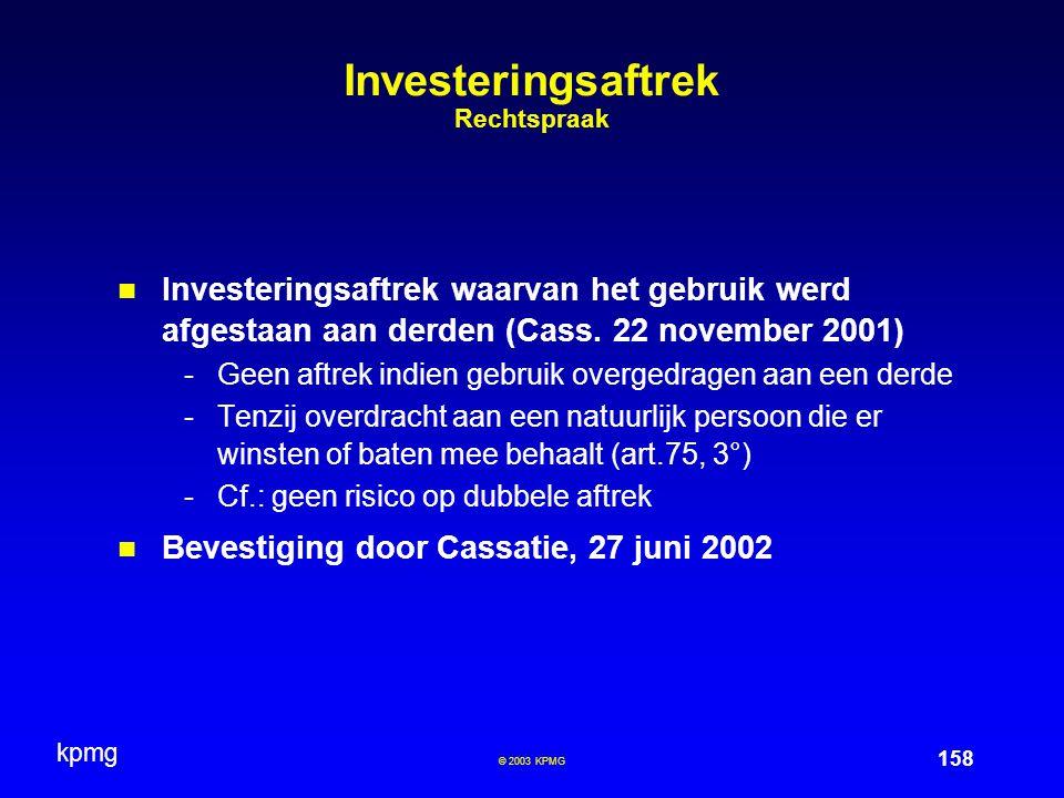 Investeringsaftrek Rechtspraak