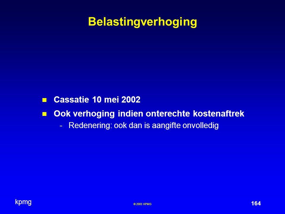 Belastingverhoging Cassatie 10 mei 2002