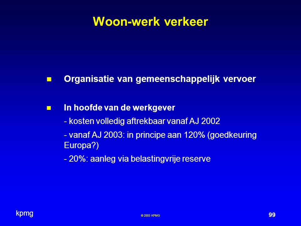 Woon-werk verkeer Organisatie van gemeenschappelijk vervoer